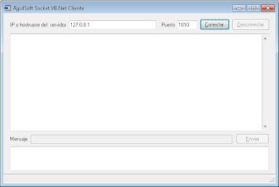 AjpdSoft Socket VB.Net en funcionamiento