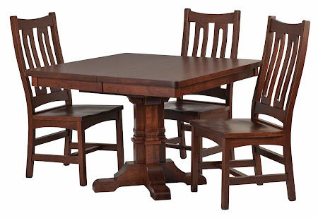 "42"" x 42"" Parma Table and Runic Chairs in Wild Cherry"