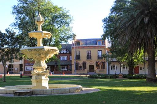 The fountain in Belmore Park. Goulburn, Australia