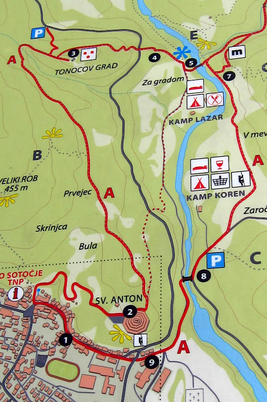 Kobarid hiking map
