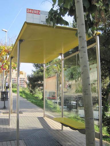 Diagonalバス停@バルセロナ