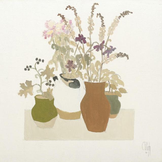 Constantin Piliuță - Vase cu mâțișori și flori de câmp