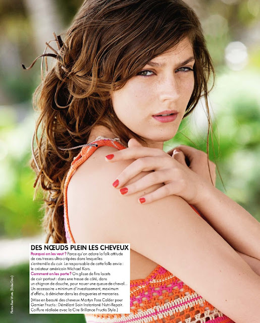 amber anderson -elle france n°3454 march 2012