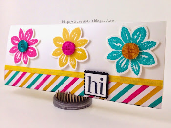 Linda Vich Creates: Irresistible Petals, Bold and Bright! Irresistibly Yours paper coordinates with bright and bold stamped flowers from Petal Potpourri.