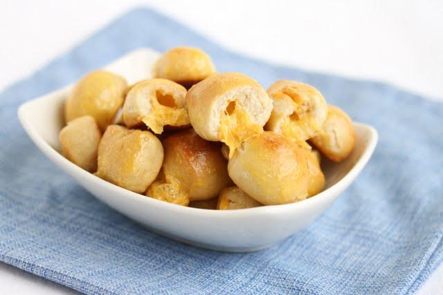 photo of a bowl of Nacho Pretzel Bites