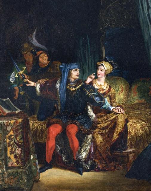 Eugène Delacroix - Charles VI and Odette de Champdivers