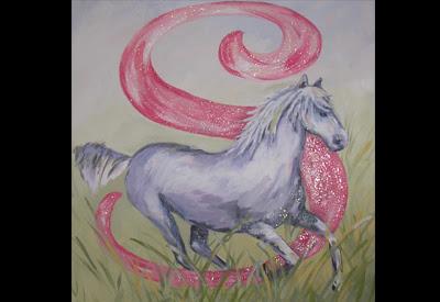 """""""S"""" girl loves horses."""