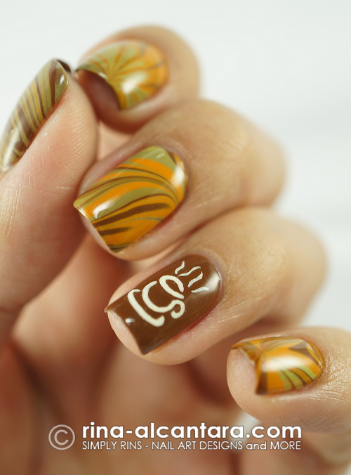 Coffee Nail Art Design