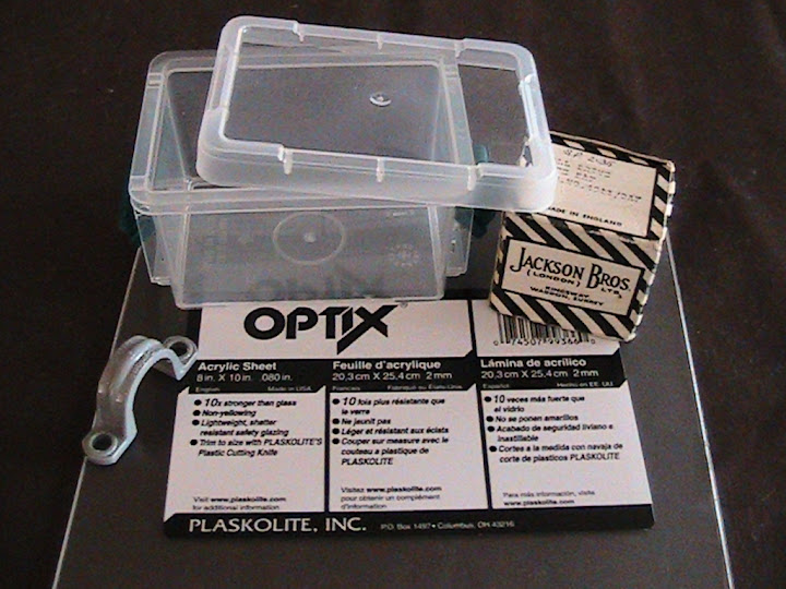 Materials used for the tuning enclosure: