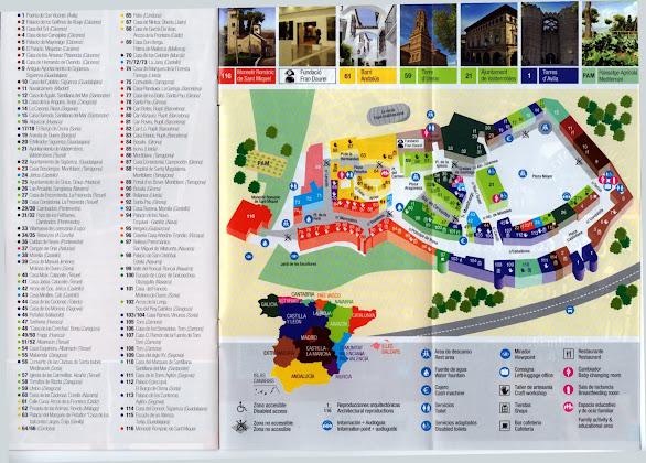 Poble Espanyol'un yerleşim haritası, Barselona