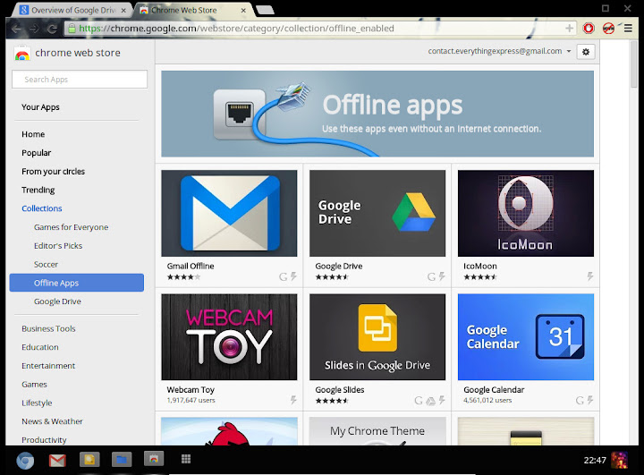 Chrome Store Offline Apps