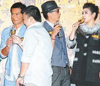 吳彥祖與剛產女不久的黃奕在台上密密斟,莫非大談湊女經?