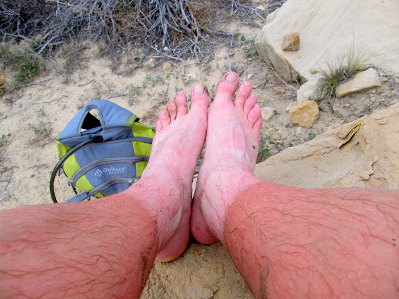 My legs and feet turned red from the freezing water