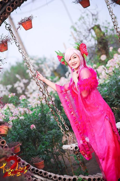 Bảo Ngọc rạng rỡ với cosplay Hoa Tiên Tử trong TLBB 5