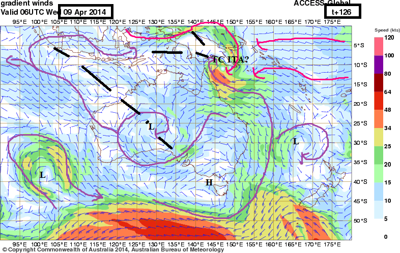 invest 97 p possibleTC ita windstreams forecast 9th march 2014
