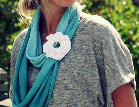 Inspiração flores - echarpe