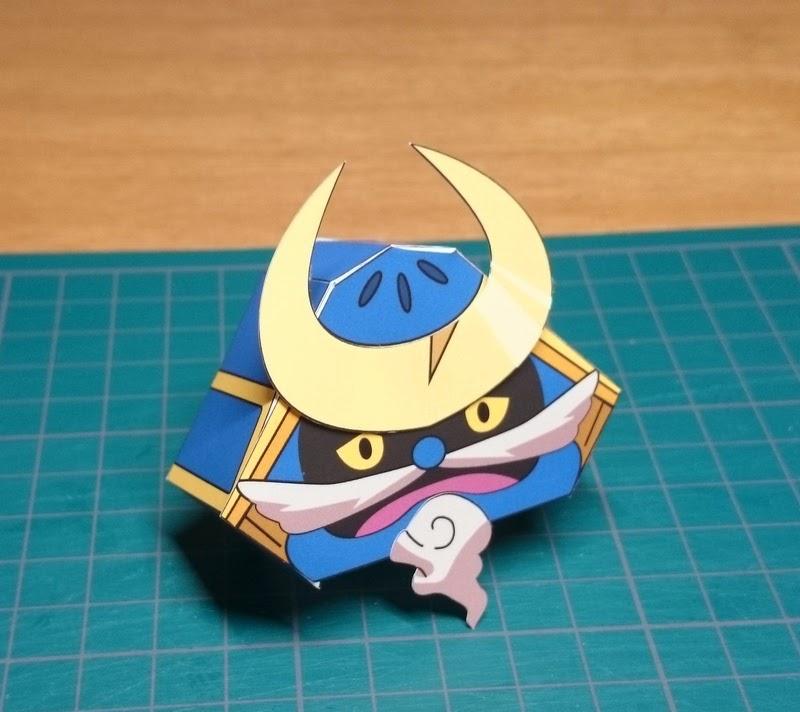 Yokai Watch Kabuto-san Papercraft