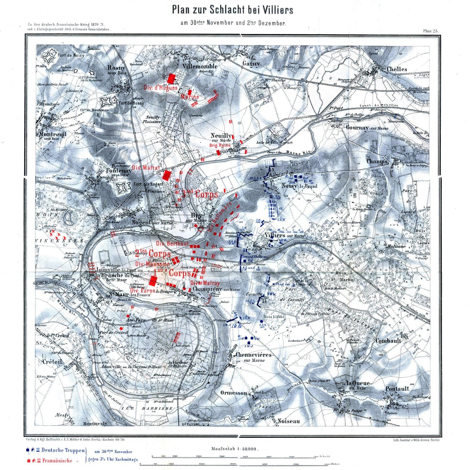 la redoute et ses alentours en 1870 1871 mais aussi en 1960 et au-delà Schlacht_bei_Villiers