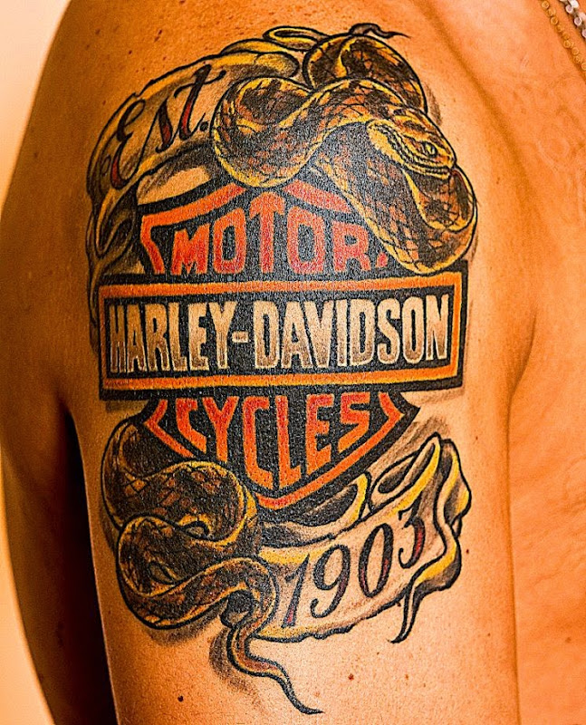Harley Davidson Tattoos Designs Ideas and Meaning  Tattoos For You