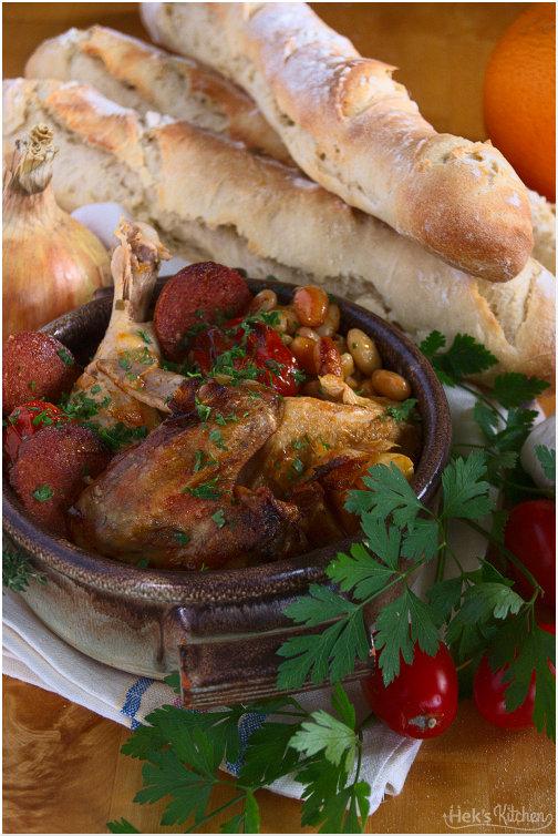 Huhn spanische Art
