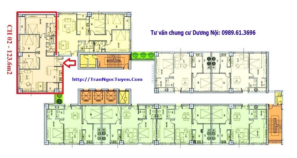 Vị trí và thiết kế căn hộ 02 chung cư CT8 Dương Nội The Sparks