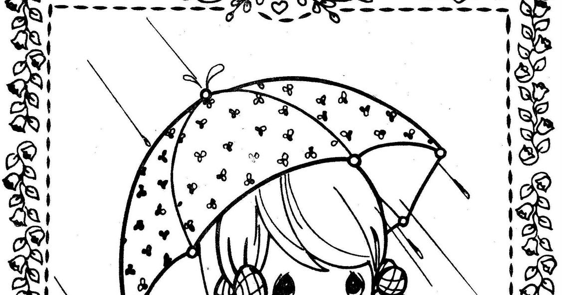 Rain Rain Go Away Coloring Page: Girl In The Rain Precious Moments Coloring Pages