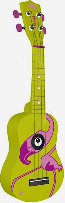 Stagg 2012 Safari series flamingo Soprano at Lardy's Ukulele Database