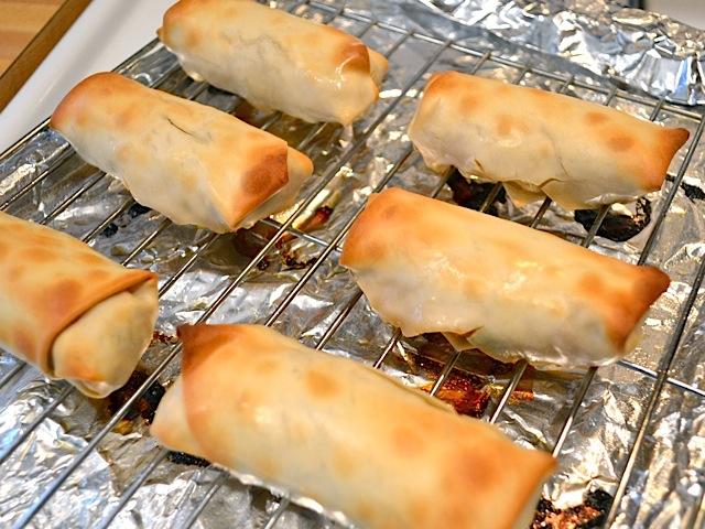baked frozen egg rolls