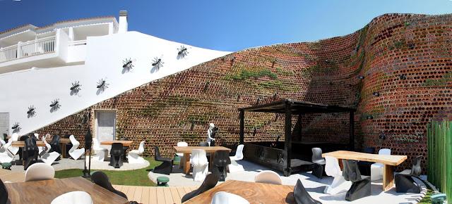 Jardín vertical. Hotel Ushüaia. Ibiza