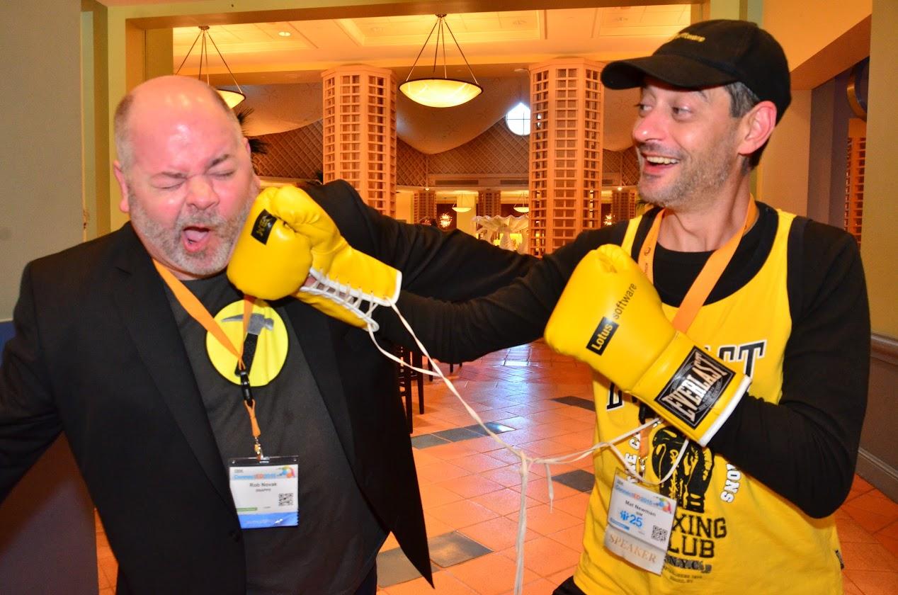Mat Newman boxing