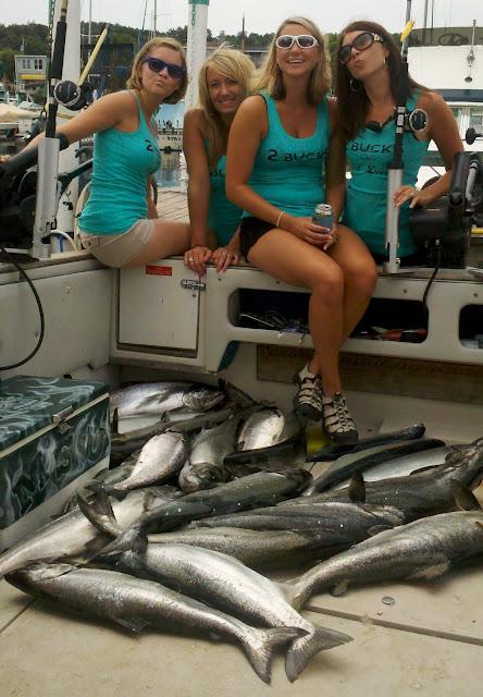 Lake Michigan King Salmon Fishing