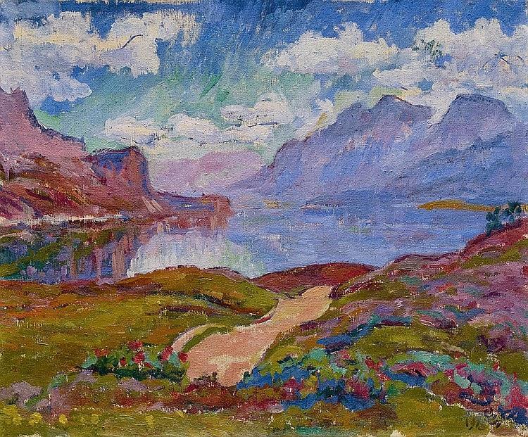 Giovanni Giacometti - Mattino Maloggia, 1918