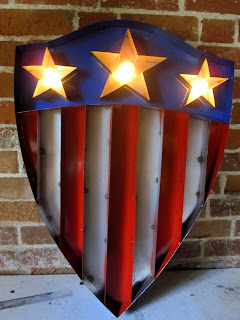 The finished Captain America light up sign