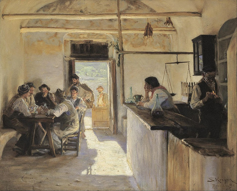Peder Severin Krøyer - Osteria in Ravello. - Google Art Project