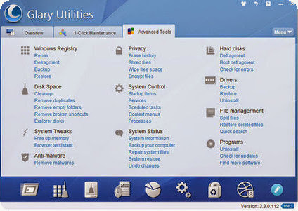 Glary Utilities Pro 3.4.0.117 Final Datecode 07.06.2013 [Multi] - Kit completo para mantenimiento del PC