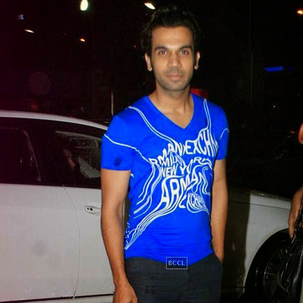 Rajkummar Rao snapped outside a suburban multiplex in Mumbai, on July 29, 2014.(Pic: Viral Bhayani)