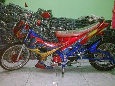 modifikasi motor satria fu 2005