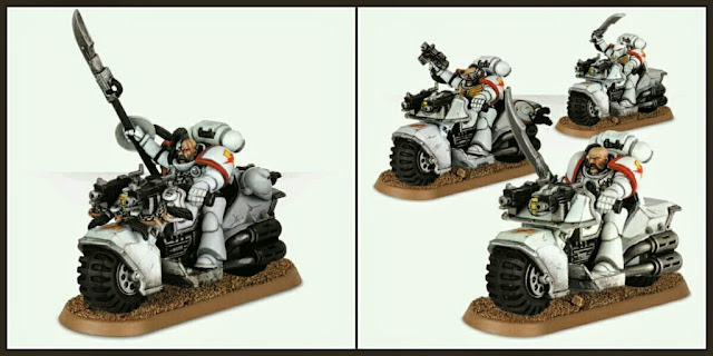 Motos Cicatrices Blancas Marines Espaciales Games Workshop