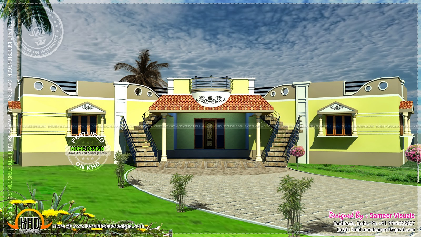 Tamilnadu Style Single Floor Duplex House Plan Kerala Home Design And Floor Plans