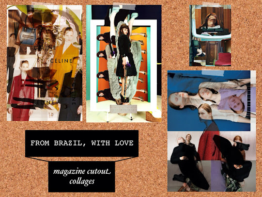 From Brazil, with Love magazine cutout collages