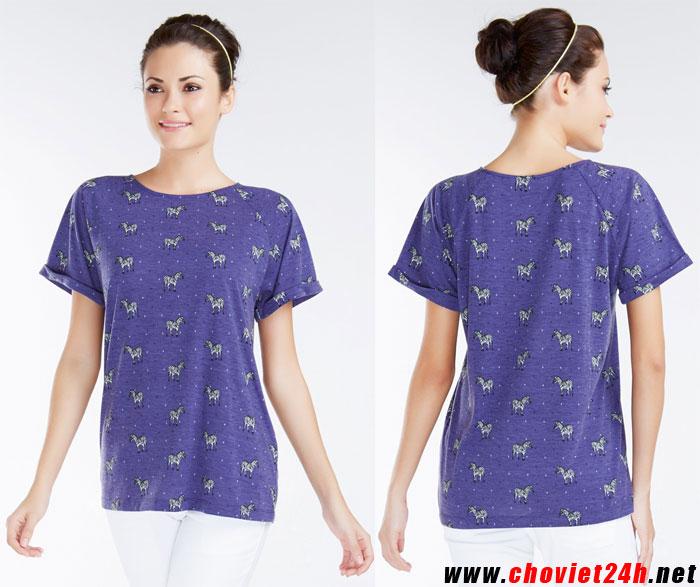Áo thun thời trang Sophie Cortney Purple