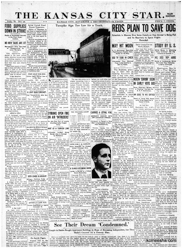 Old Newspapers: Red Satellite Up With Dog