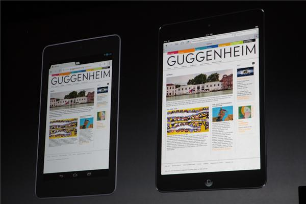 iPad miniとNexus7の比較