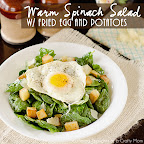 Warm Spinach Salad w/ Fried Egg and Potatoes