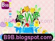 لعبة منسقة الأزهار اللطيفة بحسب الأشكال الرائعة والجميلة للأزهار