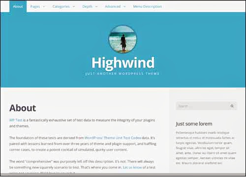 theme wordpress Highwind