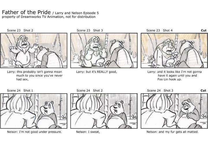 Brandon Strathmann's Artwork: Professional Storyboard sample