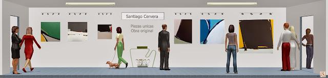 Sala de exposición virtual de pinturas de Santi Cervera