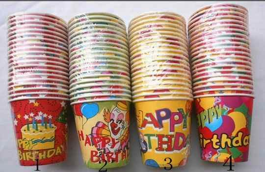 Uso de vajillas descartables para la fiesta infantil