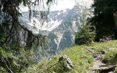 Blick zur Rotspitze Wanderung Imbergerhorn